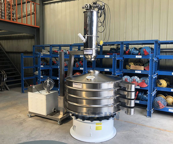 vacuum conveyor with sieves